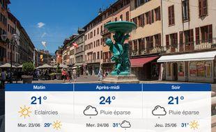 Météo Chambéry: Prévisions du lundi 22 juin 2020