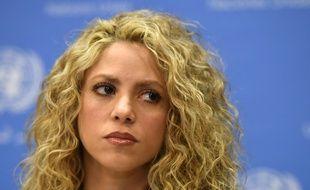 Shakira lors d'une conférence de presse aux Etats-Unis en septembre 2016.