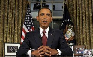 Barack Obama lors de son dicsours à la nation depuis la Maison Blanche à Washington le 31 août 2010.