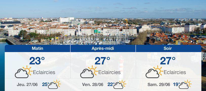 Météo La Rochelle: Prévisions du mercredi 26 juin 2019