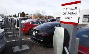 Une station de chargement pour voiture Tesla (illustration).
