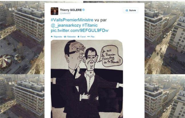 Capture d'écran du fil Twitter de Thierry Solère