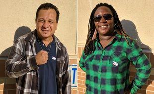 Tony et Ava, des supporteurs de Donald Trump et Hillary Clinton, ont voté à Sacramento, en Californie, le 8 novembre 2016.