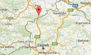 Localisation de la ville de Gruskovje, en Slovénie, à la frontière croate, où les statuettes ont été retrouvées.