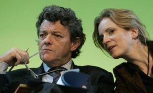Jean-Louis Borloo, ministre de l'Ecologie, et Nathalie Kosciusko-Morizet, secrétaire d'Etat à l'Ecologie, au lancement de la deuxième phase du Grenelle de l'Environnement le 27 septembre 2007