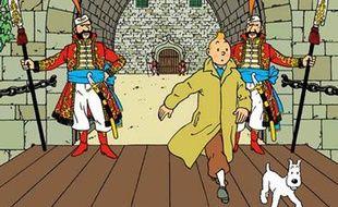 Couverture de l'album de Tintin «Le Sceptre d'Ottokar».