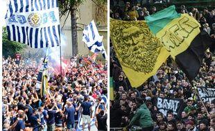 Supporteurs bordelais et nantais, unis pour un même combat.
