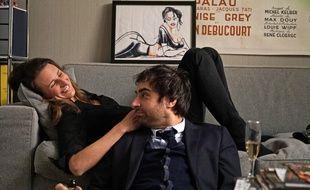 Camille Cottin et Grégory Montel dans l'épisode 2 de Dix pour Cent, diffusé le 13 octobre 2015.
