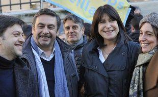 Michèle Rubirola, au centre, entourée de Benoit Payan du PS (à gauche), Jean-Marc Coppola du PCF et Sophie Camard de LFI.