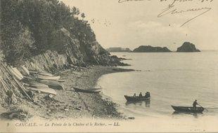 Carte postale de Cancale en 1911, visible sur Google Arts & Culture.