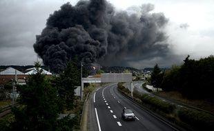 L'incendie de l'usine Seveso de Rouen, le 26 septembre 2019.
