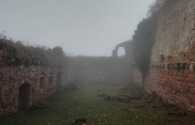 La plus grande salle du château du Guirbaden, où étaient célébré des fêtes, ou organisée la justice au Moyen-Âge.