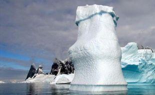 Des icebergs dans l'Antarctique, le 2 janvier 2010