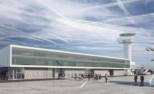 Image de synthèse du futur Satellite 3 de l'aéroport de Bordeaux Mérignac