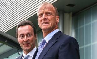 Fabrice Brégier, numéro 2 d'Airbus, et le président exécutif du groupe aéronautique, Tom Enders.