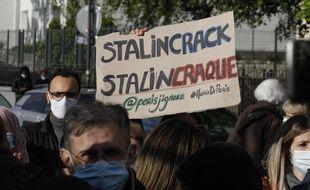 Mobilisation de riverains le 19 mai dans le quartier de Stalingrad à Paris.