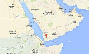 Localisation d'Ibb, au Yemen