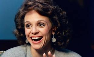 L'actrice américaine Valerie Harper en 1987, lors d'une interview à New York.