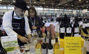 Un producteur de vin bio le 27 janvier 2014 à Montpellier