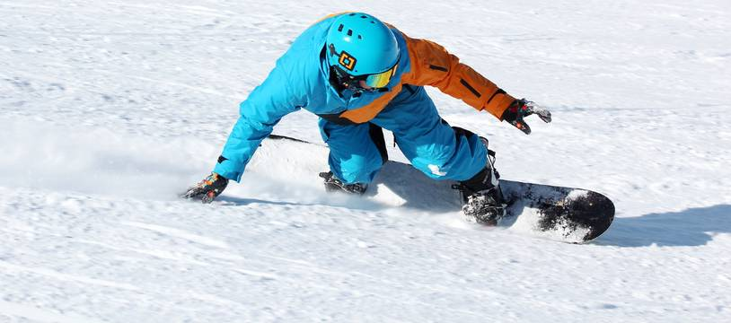 Du snowboard (illustration).