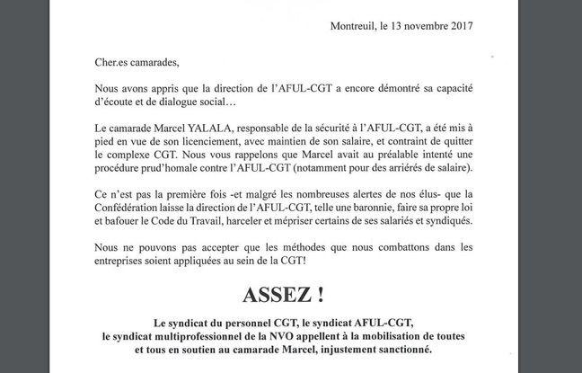 Le tract de soutien à Marcel Yalala distribué mardi 13 novembre.
