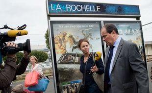 Jean-Christophe Cambadélis à son arrivée à La Rochelle où se tient l'université d'été du Parti socialiste