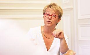 La maire de Rennes Nathalie Appéré dans son bureau de l'Hôtel de ville, le 28 septembre 2017.