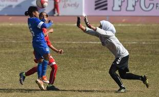 Un match de la sélection afghane de football.