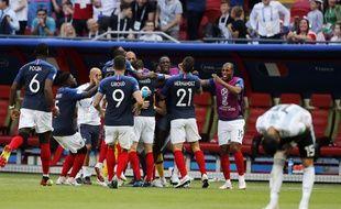 L'équipe de France a battu l'Argentine en 8e de finale de Coupe du monde, le 30 juin 2018.