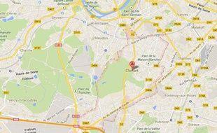 Google map de Clamart (Hauts-de-Seine).