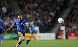Le joueur de l'équipe de France de rugby, Frédéric Michalak, face au Canada, le 1er octobre 2015.