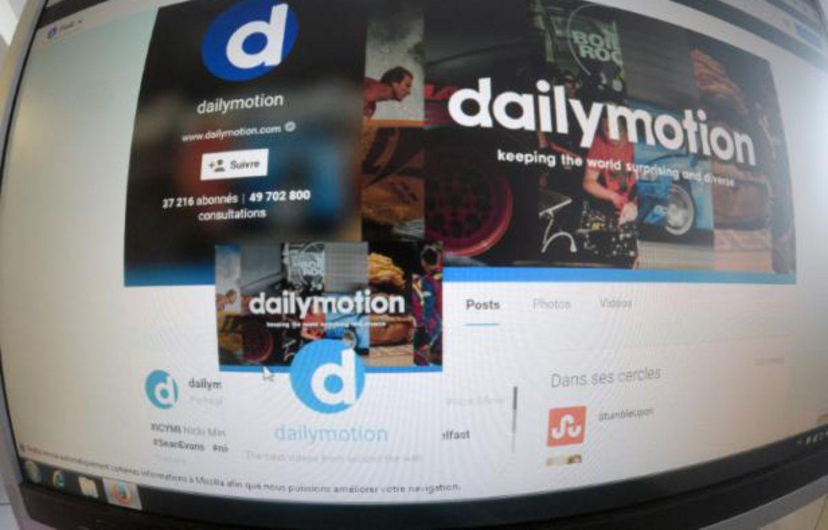 Page internet du site DailyMotion – Damien Meyer AFP