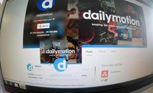 Page internet du site DailyMotion