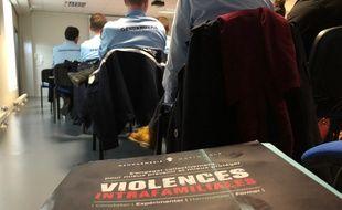Un séminaire sur les violences conjugales a été organisé au sein de la caserne de gendarmerie Guillaudot à Rennes, le 5 février 2020.