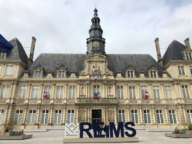 L'hôtel de ville de Reims, le 11 mars 2020.