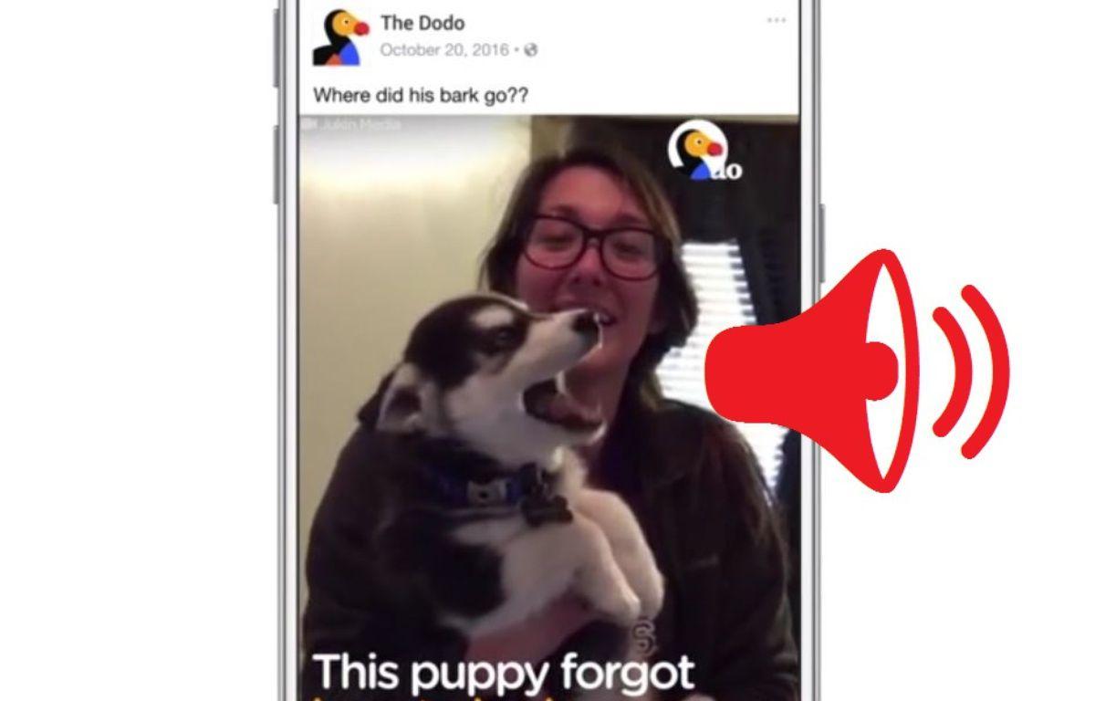 Il sera possible de désactiver le son dans les paramètres. – Facebook/20 Minutes
