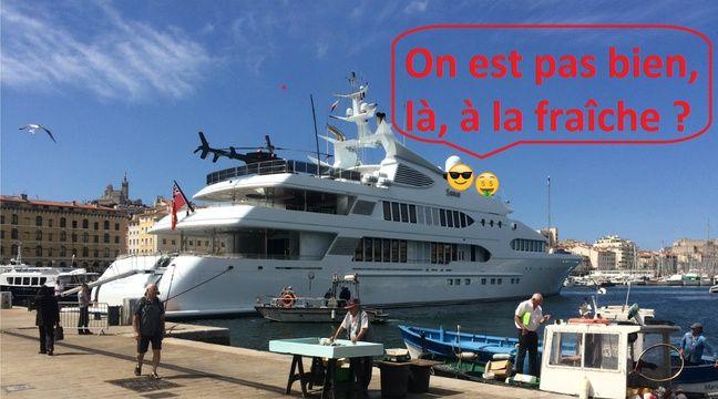 Marseille un yacht de 76 m tres avec h lico se pavane - Port de marseille pour aller en algerie ...