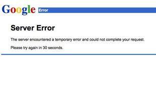 Le message d'erreur qui s'affiche sur Gmail.