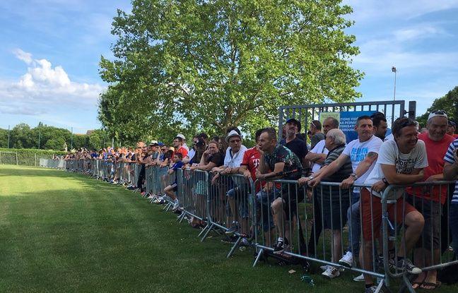 Environ 150 fans du RC Strasbourg étaient présents pour la reprise.