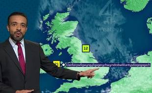 Le présentateur météo Liam Dutton le 8 septembre 2015.