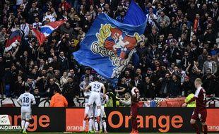 Le public du Parc OL, ici lors du précédent match face au FC Metz à Décines, en février 2017.