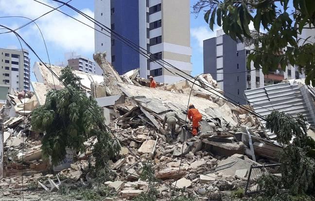 Brésil: L'effondrement d'un immeuble de sept étages fait au moins un mort