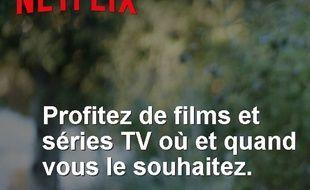 Capture d'écran de la page d'accueil de Netflix France