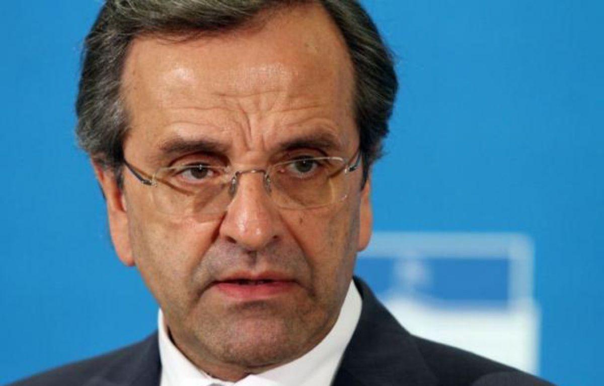 La Grèce en crise se retrouve un peu plus fragilisée face à ses partenaires et créanciers de l'UE après les débuts chaotiques du nouveau gouvernement d'Antonis Samaras. – Panagiotis Tzamaros afp.com