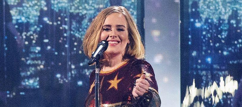 Adele lors des Brit Awards