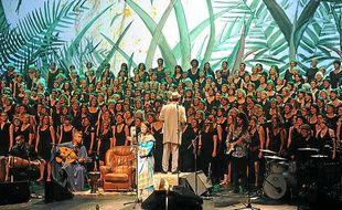 La chorale géante Urban Voices, associée aux percussions, proposera un spectacle unique.