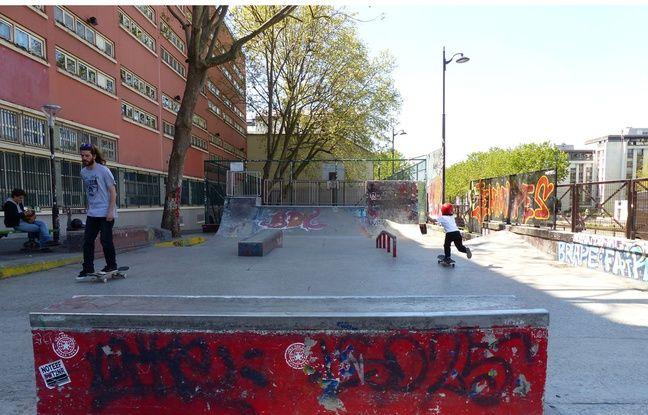 Skatepark, Quai des Jemmapes, Paris 10ème.