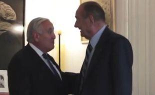 Jean-Pierre Raffarin et Jacques Chirac, en 2014