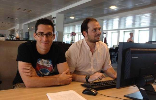 Romain Scotto et Antoine Maes, journalistes à 20 Minutes