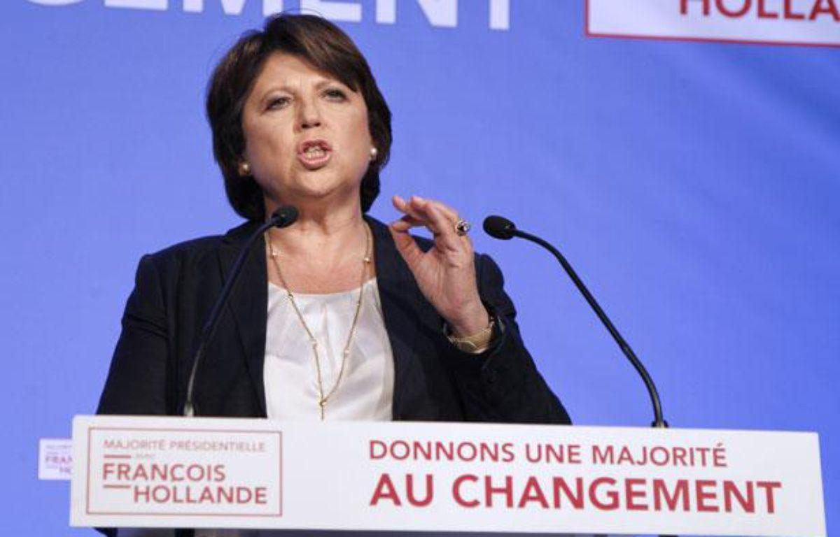 Martine Aubry au siège du PS, le 10 juin 2012.  – F. GUILLOT / AFP
